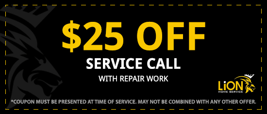 25 Off Service Call With Repair Work